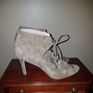 Via Spiga - Tan open toe lace up heels
